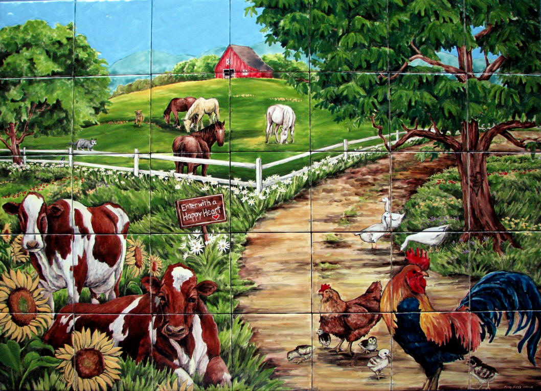 farm animal murals wall murals you ll love this slaughterhouse mural is really creepy vice