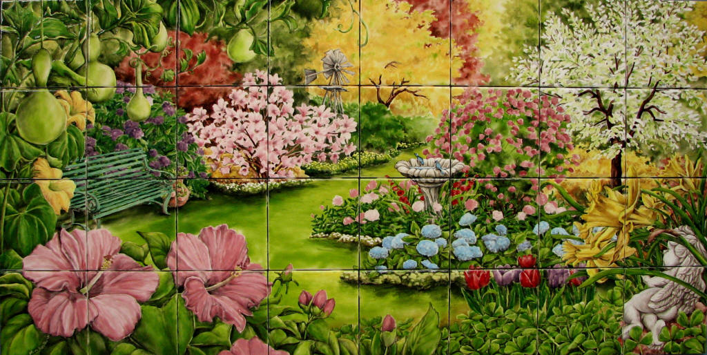 Flower garden for Mural of flowers