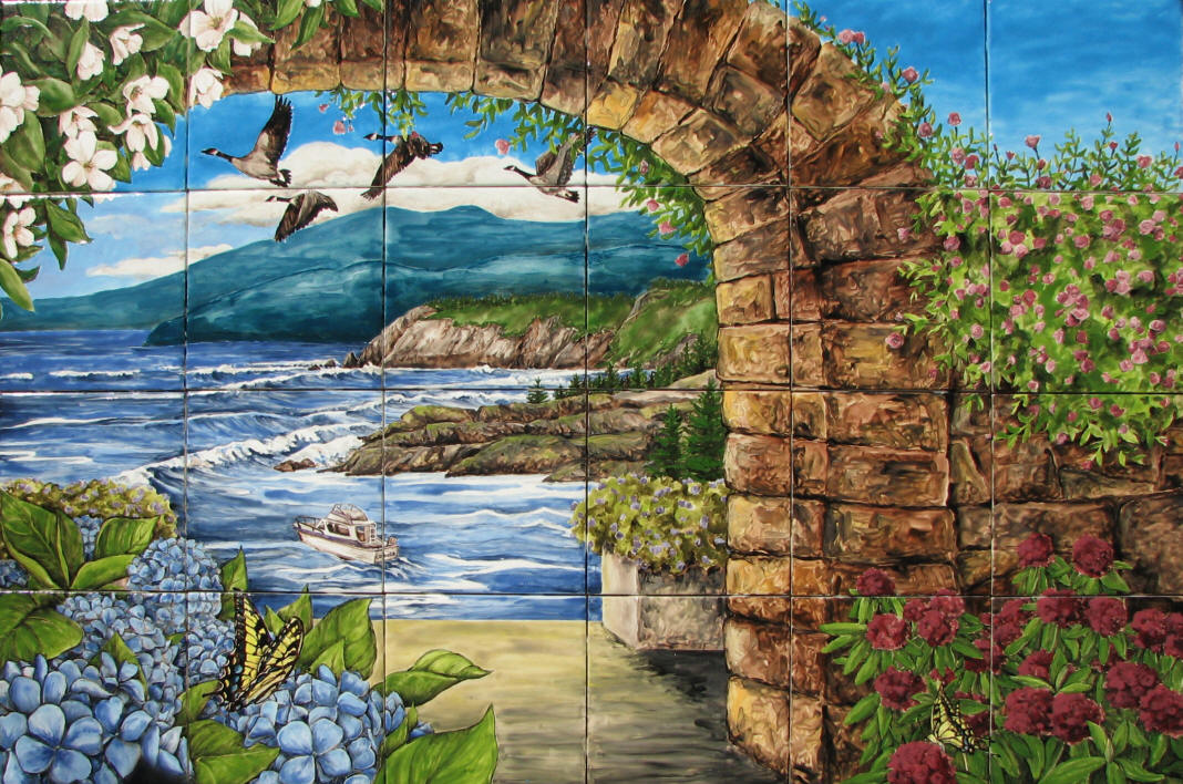 Northern ca coast tile mural for California mural